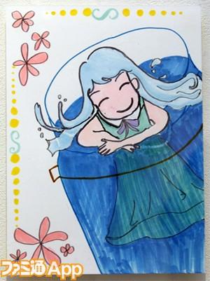 019 ▲【写真左】岸田メルさんの手で描かれたシエットとメルク。ちょっぴり大人び... 『メルク