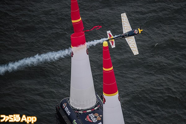 Challenger pilot Francis Barros of Brazil performs during the Challenger Cup of the third stage of the Red Bull Air Race World Championship in Chiba, Japan on June 5, 2016.