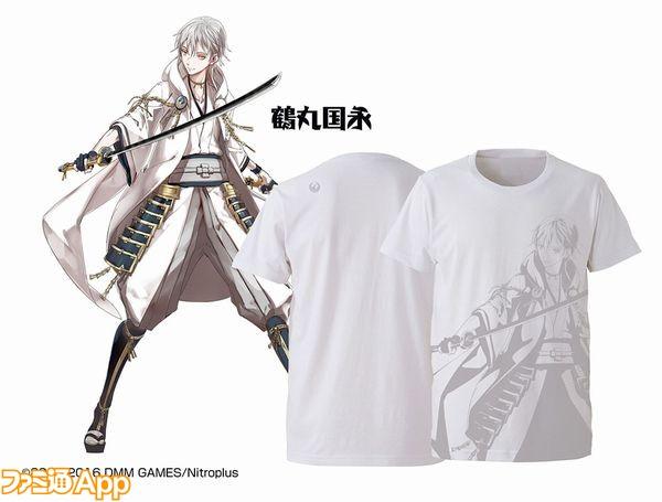 鶴丸国永白Tシャツ00