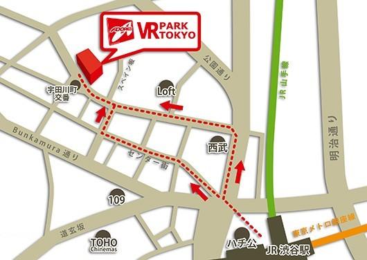 VR PARK TOKYOマップ