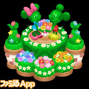 【デコ】20170410ミッキー&ミニーのビッグトピアリー(完成)