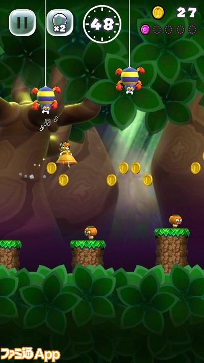 スーパーマリオランゲーム画面2