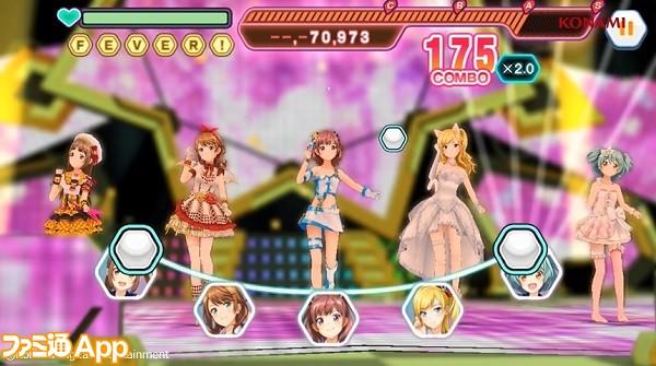ときめきアイドルライブ画面