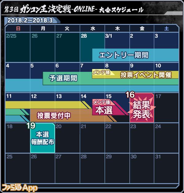 第3回ガンコン王決定戦-ONLINE-大会スケジュール