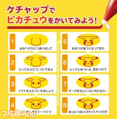 8_ピカチュウオムライス描き方