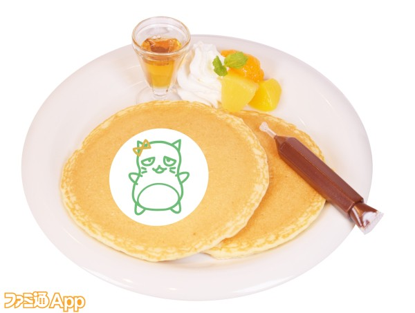 コラボフード_お絵描きぴにゃこら太パンケーキ