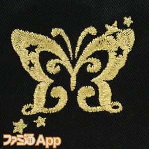 プロデューサーフラットバイザー_ミリオンライブ!Ver_左刺繍アップ(パピヨン)