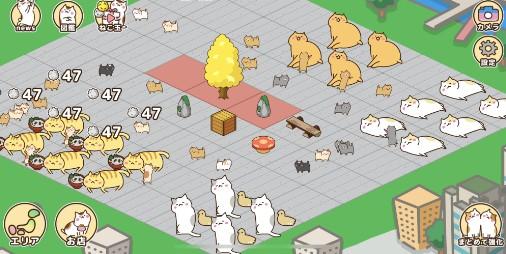 【新作】日本列島ネコだらけ!!巨大な猫町を埋め尽くす癒やしのアプリ 『ねこ町』
