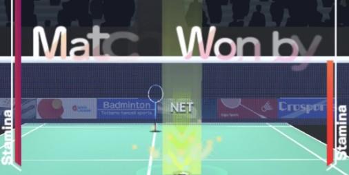 【新作】簡単操作で狙い撃ち!!シングルスに特化した白熱の一人称マッチ 『バドミントン3D』