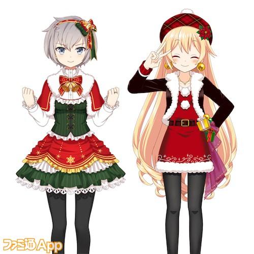 志伸あきら(クリスマス衣装)、木崎衣美里(クリスマス衣装)