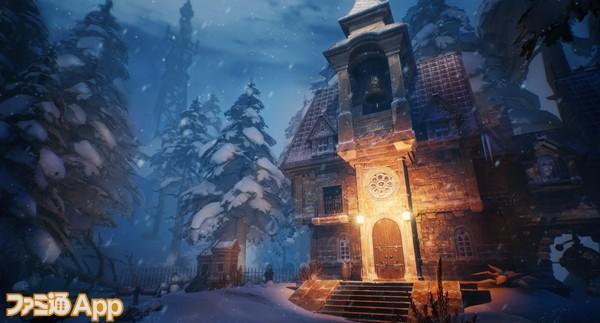 雪景色の中を自由に散策。かなり遠くまで行けるようになっている。1