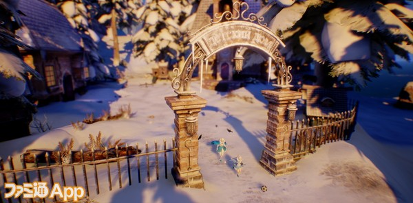 雪景色の中を自由に散策。かなり遠くまで行けるようになっている。2