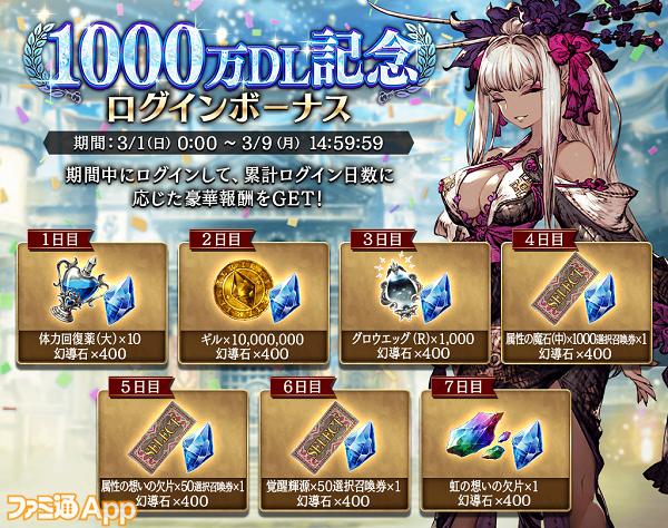 1000DL突破_ログインボーナス