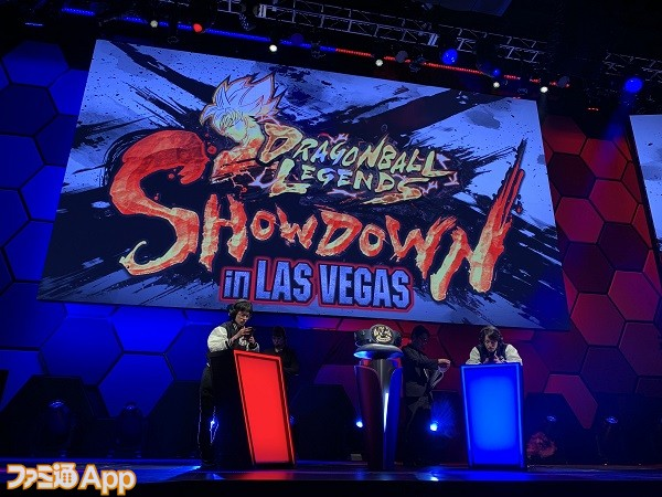 『DRAGONBALL LEGENDS SHOWDOWN IN LAS VEGAS』対戦シーン