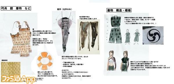 弓兵 鎧デザイン